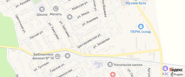 Центороевская улица на карте села Беркат-Юрт с номерами домов