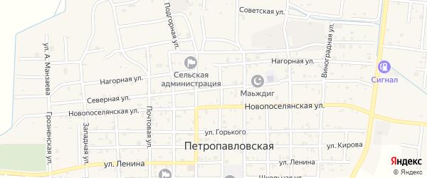 Северная улица на карте Петропавловской станицы с номерами домов