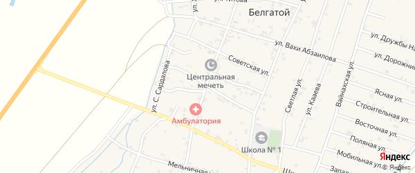 Почтовая улица на карте села Белгатой с номерами домов