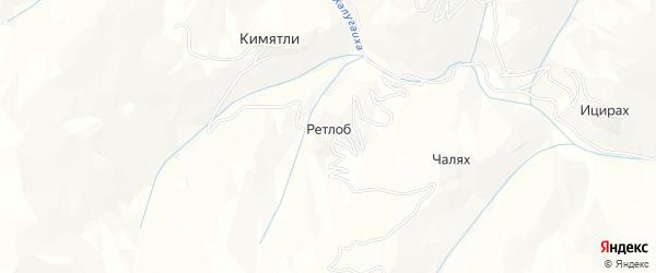 Карта села Ретлоба в Дагестане с улицами и номерами домов