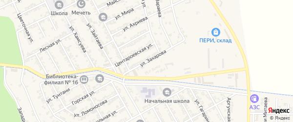Улица Захарова на карте села Беркат-Юрт с номерами домов
