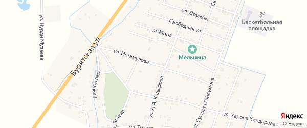 Улица Чапаева на карте села Белгатой с номерами домов