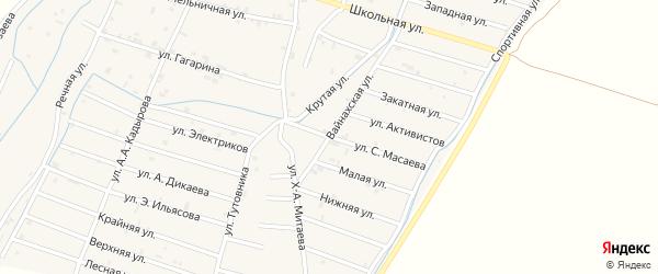 Улица Тутовников на карте села Белгатой с номерами домов