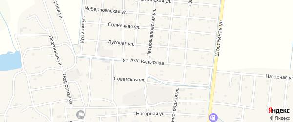 Улица А-Х.Кадырова на карте Петропавловской станицы с номерами домов