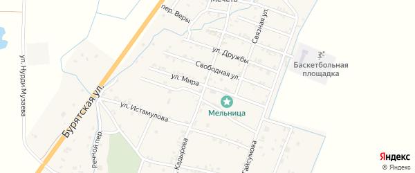Улица Мира на карте села Белгатой с номерами домов