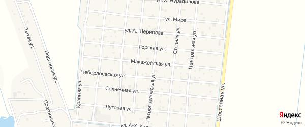 Макажойская улица на карте Петропавловской станицы с номерами домов