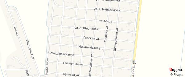 Горская улица на карте Петропавловской станицы с номерами домов
