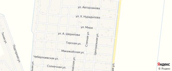 Улица А.Шерипова на карте Петропавловской станицы с номерами домов