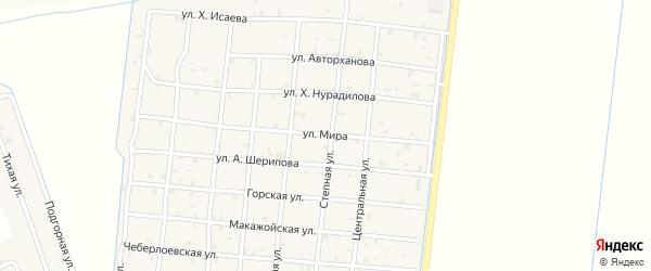Улица Мира на карте Петропавловской станицы с номерами домов