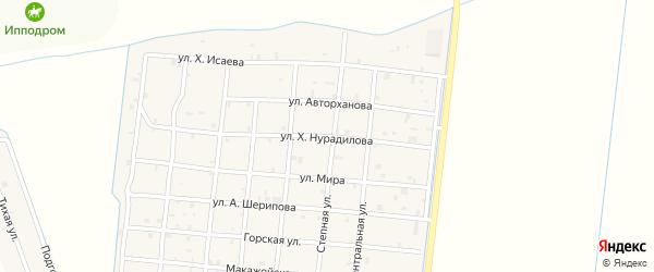 Улица Х.Нурадилова на карте Петропавловской станицы с номерами домов