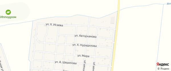 Улица Авторханова на карте Петропавловской станицы с номерами домов