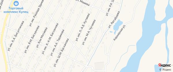 Улица Чучаева на карте Комсомольского села с номерами домов