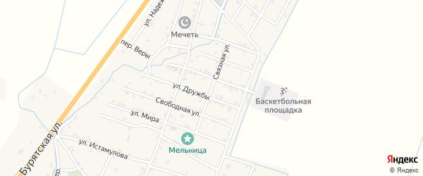 Связная улица на карте села Белгатой с номерами домов
