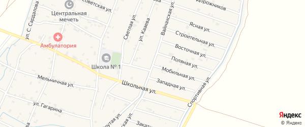 Переулок Вайнахская на карте села Белгатой с номерами домов