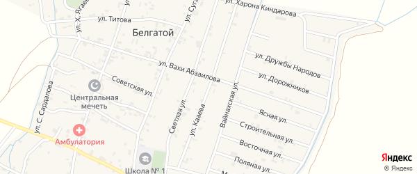 Китайская улица на карте села Белгатой с номерами домов