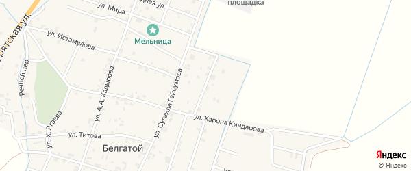 Улица Возрождения на карте села Белгатой с номерами домов