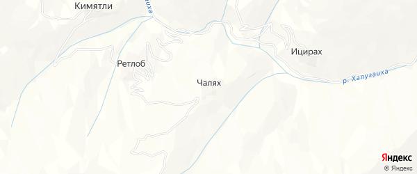 Карта села Чаляха в Дагестане с улицами и номерами домов