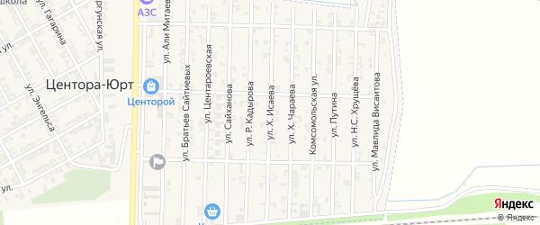 Улица Х.Исаева на карте Аргуна с номерами домов