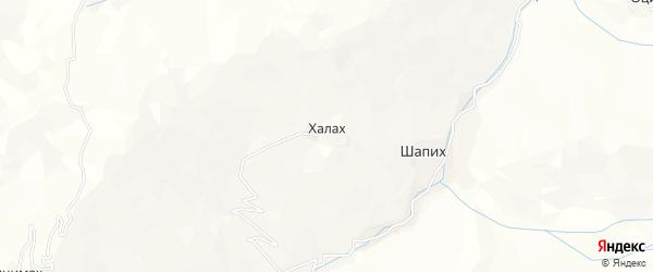 Карта села Халаха в Дагестане с улицами и номерами домов