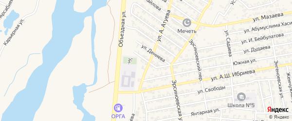Даттахская улица на карте Аргуна с номерами домов