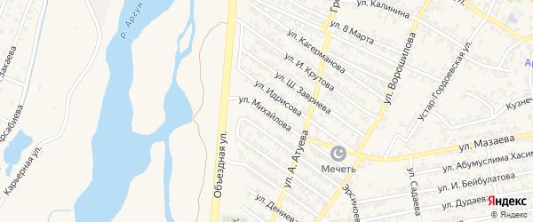 Улица А.Михайлова на карте Аргуна с номерами домов