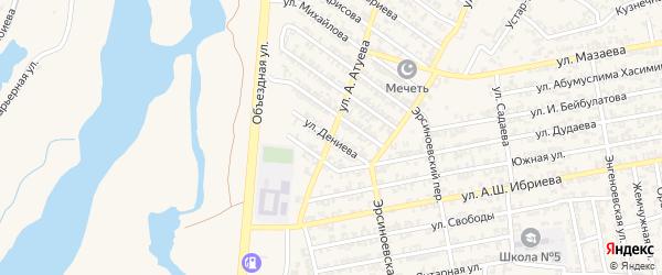 Улица А.Дениева на карте Аргуна с номерами домов