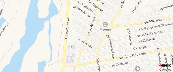 Улица С.Хачукаева на карте Аргуна с номерами домов