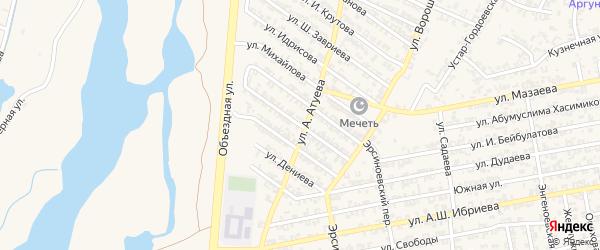 Чичильхинская улица на карте Аргуна с номерами домов
