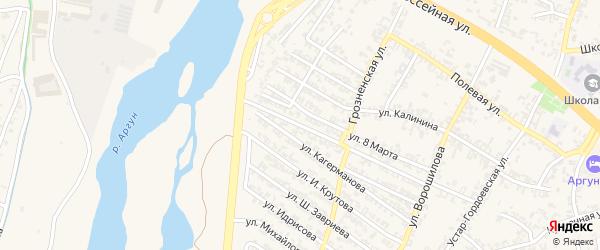 Улица Магомеда Агамерзаева на карте Аргуна с номерами домов