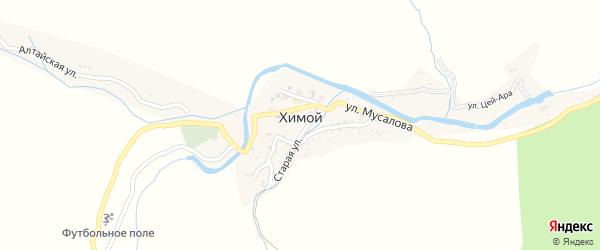 Улица М.Мусалова на карте села Химой с номерами домов
