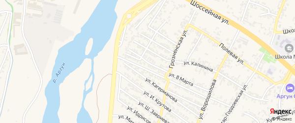Переулок 8 Марта на карте Аргуна с номерами домов