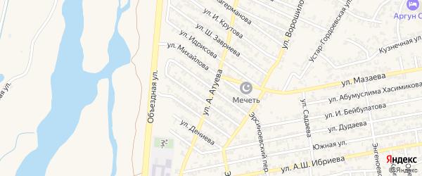 Улица Зелимхана Гушмазукаева на карте Аргуна с номерами домов