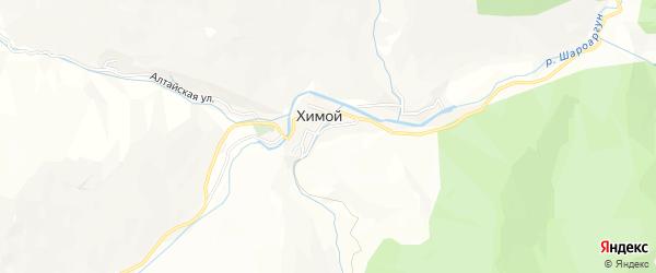 Карта села Химой в Чечне с улицами и номерами домов