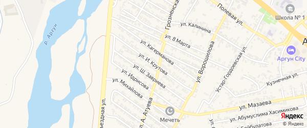 Улица Крутого на карте Аргуна с номерами домов