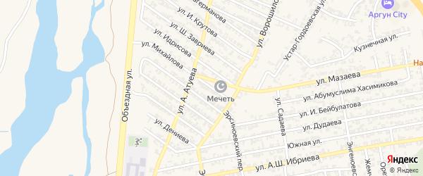 Ножай-Юртовская улица на карте Аргуна с номерами домов