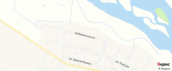 Набережная улица на карте Виноградного села с номерами домов