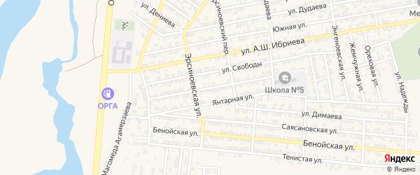 Улица Милосердия на карте Аргуна с номерами домов