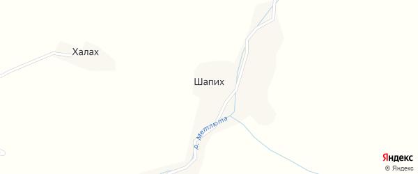 Улица Галбацова Абдулмажида Алибахарчиевича на карте села Шапих с номерами домов