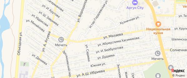 Улица М.Мазаева на карте Аргуна с номерами домов