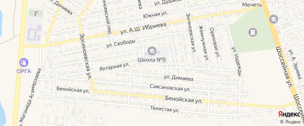 Янтарная улица на карте Аргуна с номерами домов