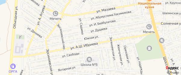 Южная улица на карте Аргуна с номерами домов