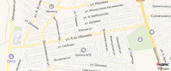 Зандакская улица на карте Аргуна с номерами домов