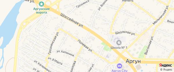 Переулок К.Ворошилова на карте Аргуна с номерами домов