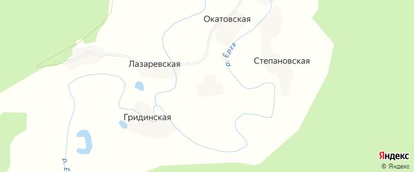 Карта Юркинской деревни в Архангельской области с улицами и номерами домов