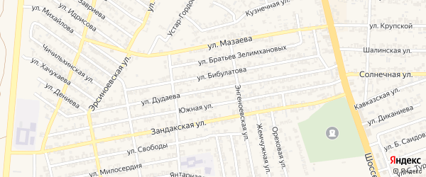 Улица А.Дудаева на карте Аргуна с номерами домов