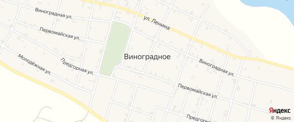 Улица Виноградное на карте Виноградного села с номерами домов