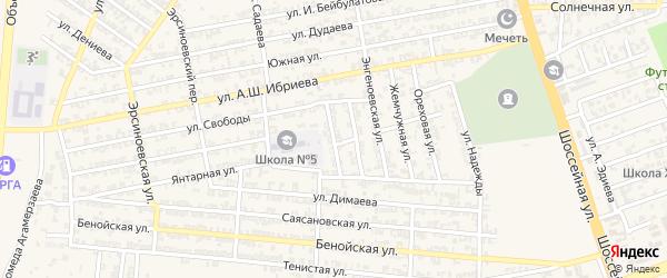 Переулок 2-й С.Диканиева на карте Аргуна с номерами домов