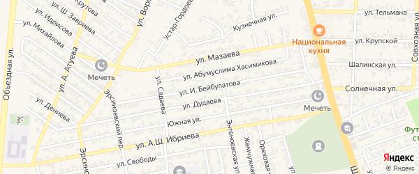 Улица Бибулатова на карте Аргуна с номерами домов