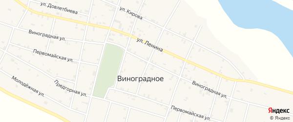 Виноградная улица на карте поселка Гикало с номерами домов