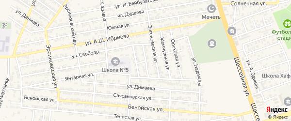Переулок 1-й С.Аксактемирова на карте Аргуна с номерами домов
